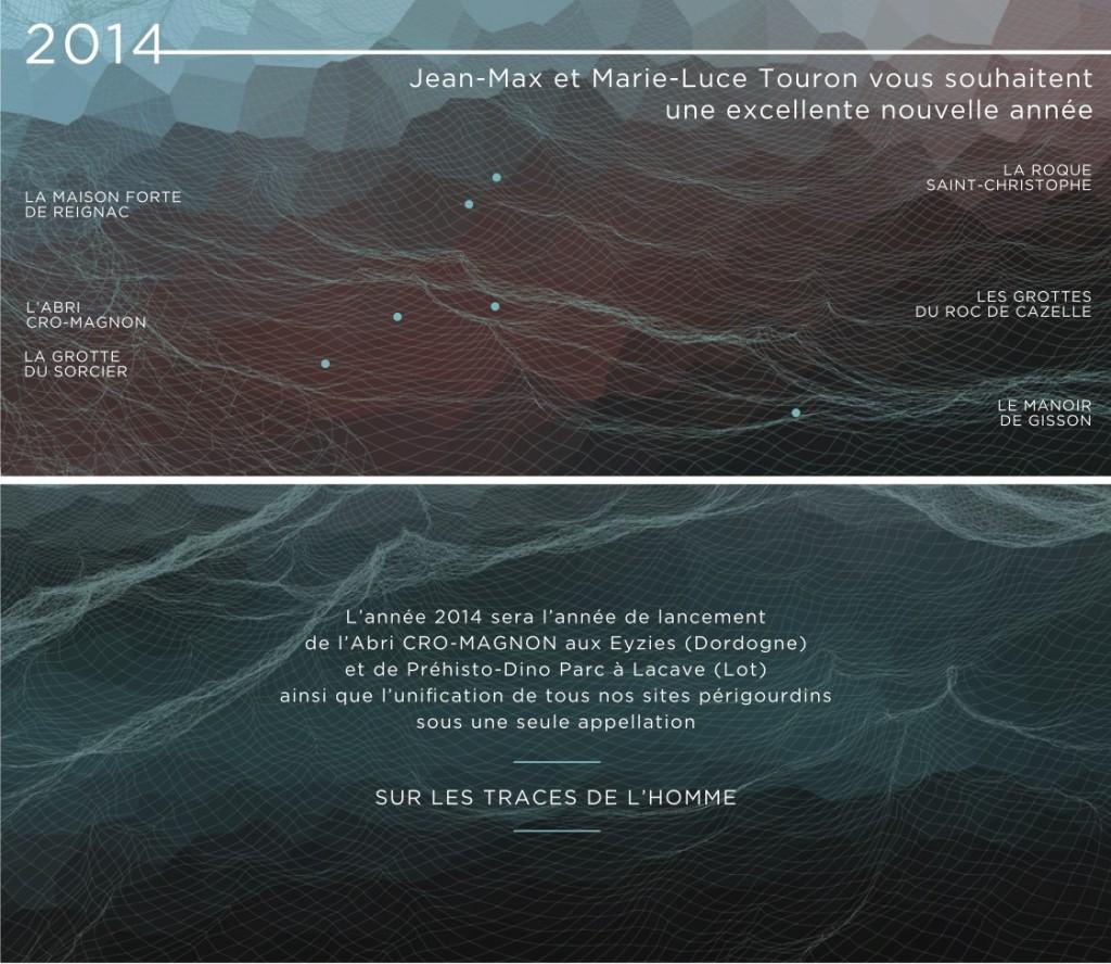 Sur les traces de l'Homme Carte de voeux 2014 par Chipo y Juan