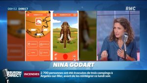 BFM Nina Godart - App by CHIPO Y JUAN creator of the app Mammouth Cie www.chipoyjuan.com